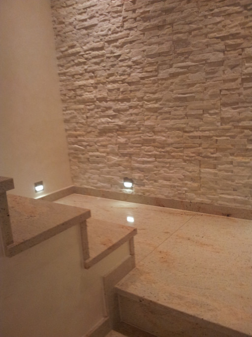 STAIRCASE made of royal ivory granite