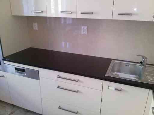 KITCHEN made of absolute black granite