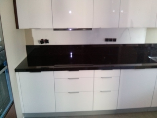 KITCHEN made of polished star galaxy granite