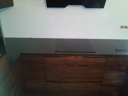 KITCHEN made of polished absolute black granite - 3 cm thick