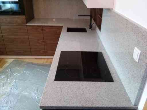 KITCHEN made of imperial white granite