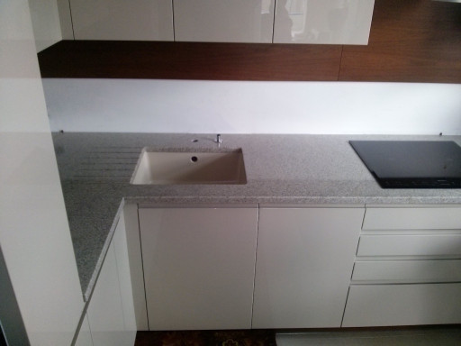 KITCHEN made of imperial white granite - 3 cm thick