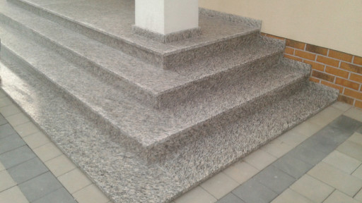 STAIRCASE made of brushed ipanama granite