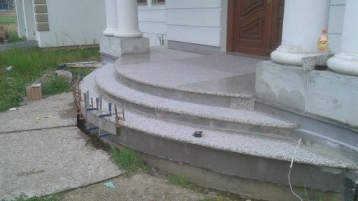 STAIRCASE made of creme terra granite