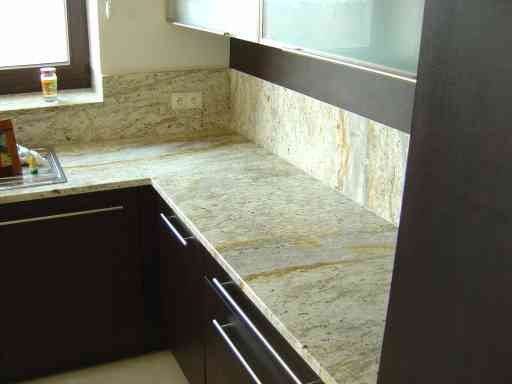 KITCHEN made of colonial white granit
