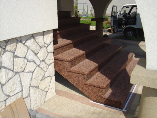 STAIRCASE made of eagle red granite