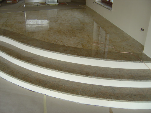 STAIRCASE made of kashmir gold granite