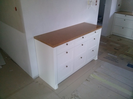 COUNTERTOP - chest of drawers made of sahara gold granite