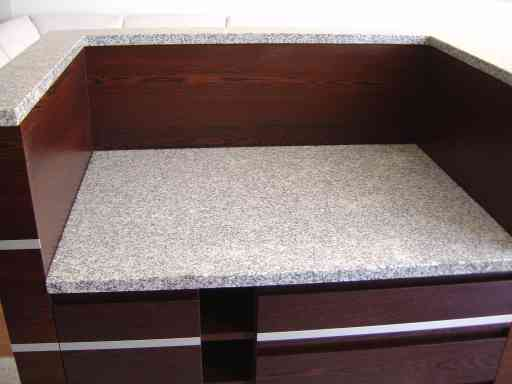 COUNTERTOP made of grey granite