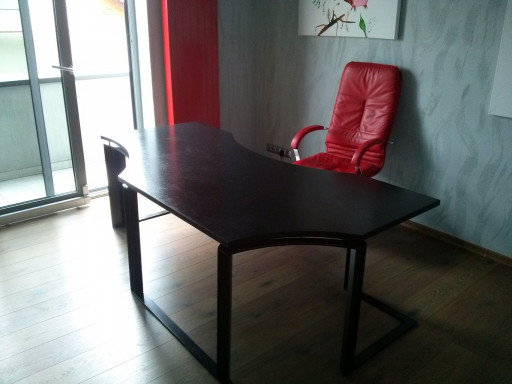 DESK - brushed absloute balck granite