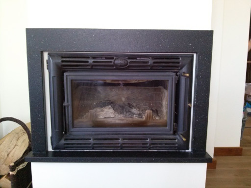 FIREPLACE made of brushed star gate granite