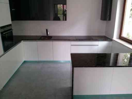 KITCHEN made of river blue granite