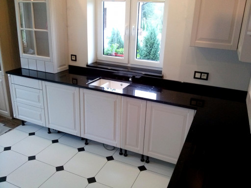 KITCHEN made of star galaxy granite - 3 cm thick