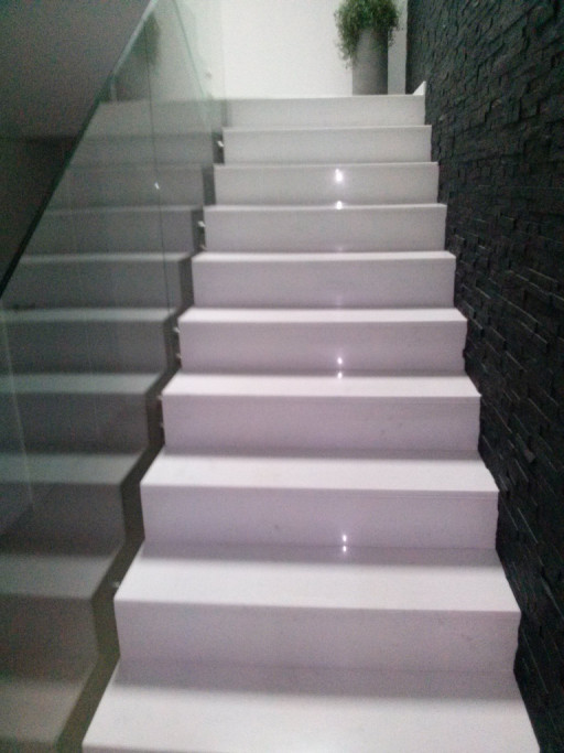STAIRCASE made of bianco cristal marble