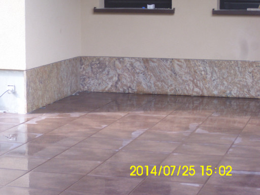 Outdoor skirting board made of polished madura gold granite