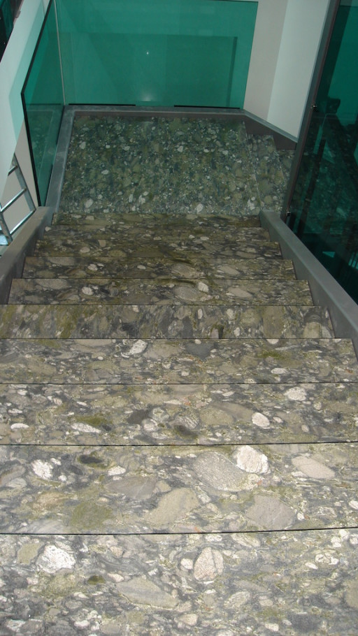 STAIRCASE made of fashion green granite