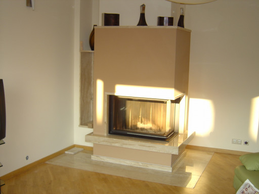 FIREPLACE made of breccia sarda marble