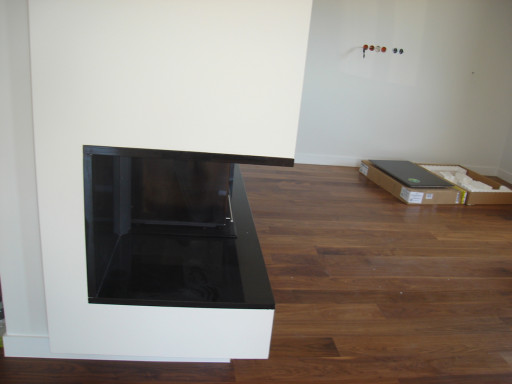 FIREPLACE made of absolute black granite