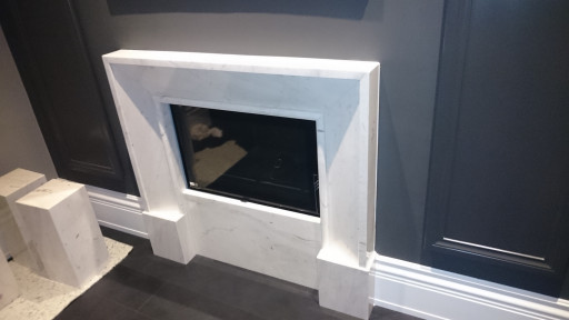 FIREPLACE made of drama white marble