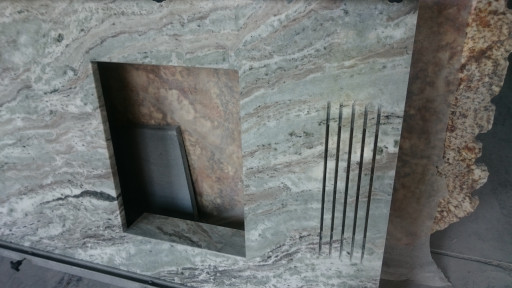 FIREPLACE made of fantasy brown marble