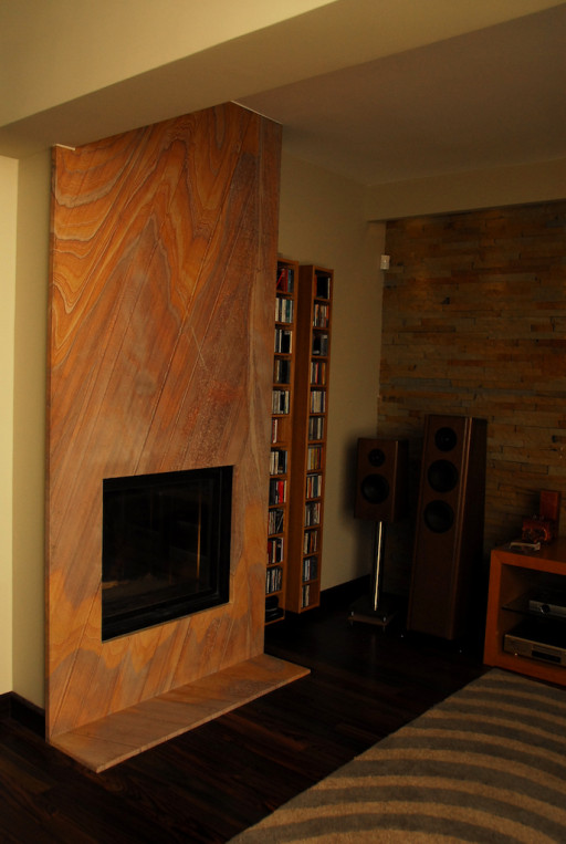 FIREPLACE made of rainbow sandstone