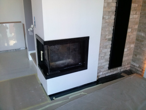 FIREPLACE made of star galaxy granite