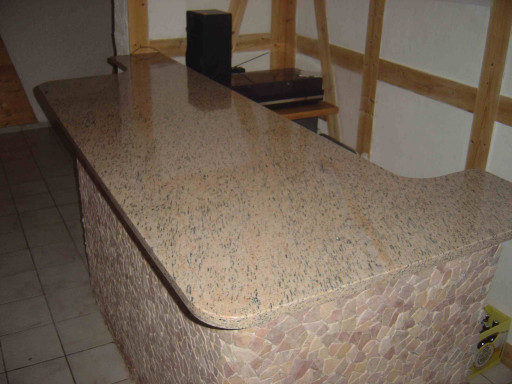 BAR COUNTERTOP made of tiger granite