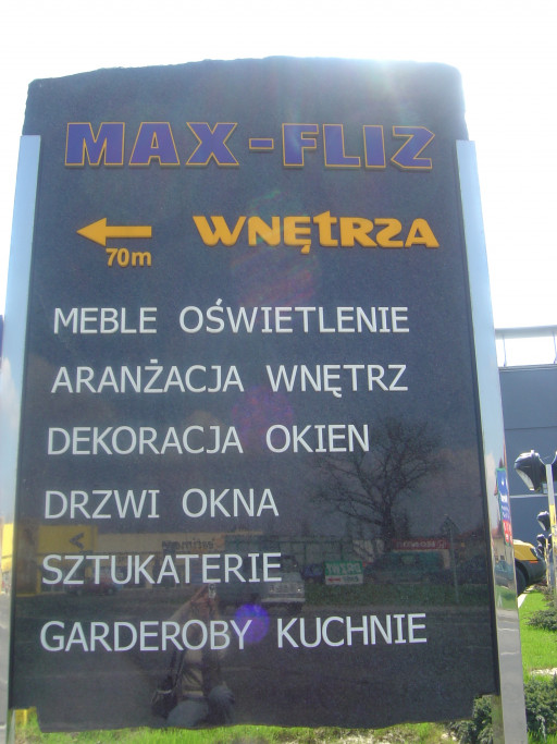 Outdoor information plaque made for MAX - FLIZ Company