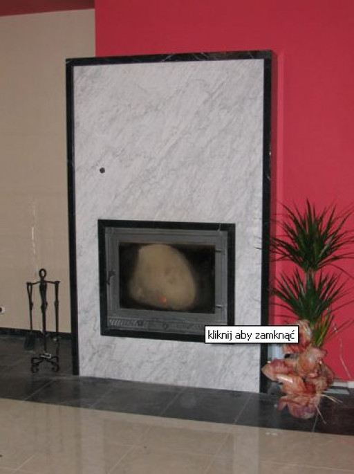 FIREPLACE made of bianco carrara marble