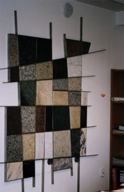 WALL DECORATION made from different types of stones