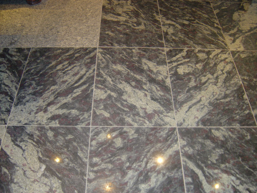 FLOOR - made of polished Amadeus granite from Finland