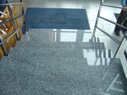 STAIRCASE made of labrador classic granite