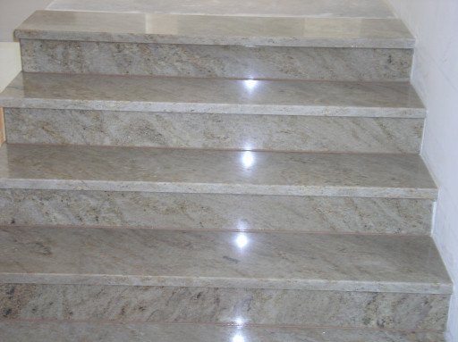 STAIRCASE made of ivory fantasy granite