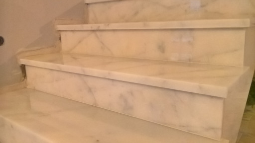 STAIRCASE made of bianvo ibiza marble