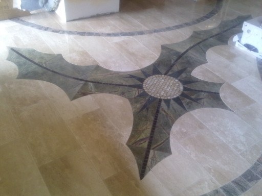 FLOOR - cut to size floor made of breccia marble